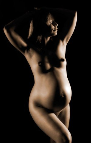 pregnant nude. The images are beautiful and intense ? and very personal.