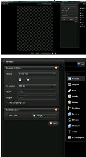 The interface of PhotoKey 4 Pro